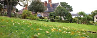 Cotford Hotel garden in autumn