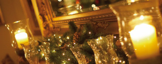 Cotford Hotel Christmas decorations - close up