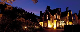 Cotford Hotel at night in winter